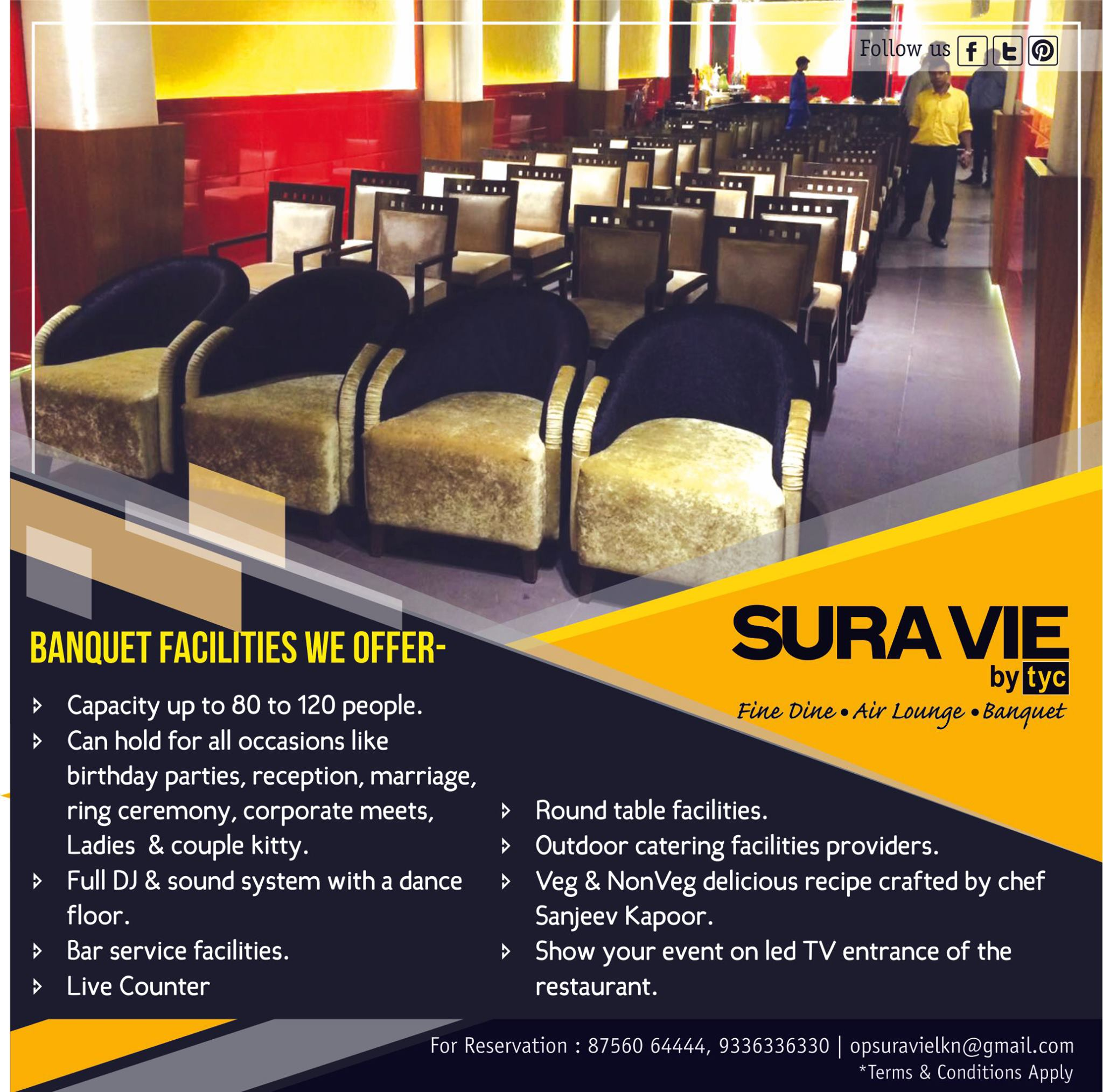 Create your memories at SURAVIE!!!